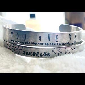 You are my sunshine - Double cuff Bracelet